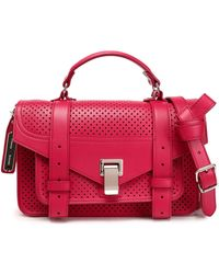 Proenza Schouler - Ps1 Perforated Leather Shoulder Bag - Lyst