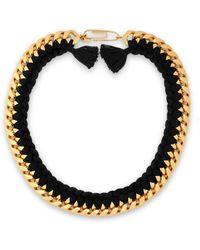 Aurelie Bidermann - Brasil Gold-tone Braided Cord Necklace - Lyst