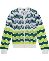 M Missoni - Cotton-blend Cardigan - Lyst