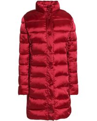 Love Moschino - Woman Quilted Shell Down Coat Crimson - Lyst