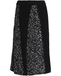 M Missoni - Panelled Knitted Skirt - Lyst