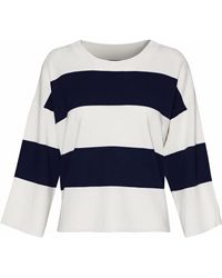 J Brand - Striped Merino Wool Jumper - Lyst