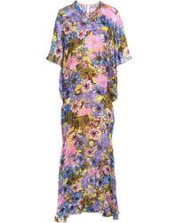 Preen By Thornton Bregazzi - Bethany Fluted Fil Coupé Midi Dress - Lyst
