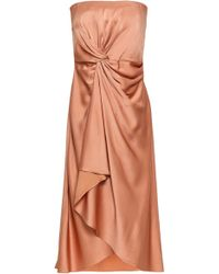 A.L.C. - Strapless Draped Satin-crepe Dress Antique Rose - Lyst