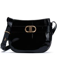 Tory Burch - Patent-leather Shoulder Bag - Lyst