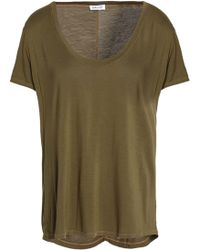 Splendid - Slub Jersey T-shirt Army Green - Lyst