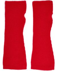 Madeleine Thompson - Ribbed Wool And Cashmere-blend Fingerless Gloves - Lyst
