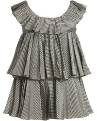 TOME - Tiered Striped Taffeta Top - Lyst