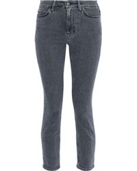 M.i.h Jeans - Niki Cropped Mid-rise Skinny Jeans - Lyst