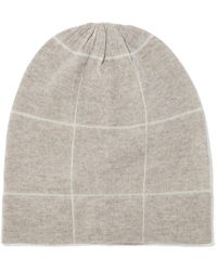 Madeleine Thompson - Ross Checked Wool And Cashmere-blend Beanie - Lyst