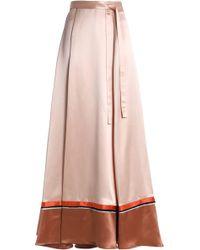 ROKSANDA - Color-block Satin Maxi Wrap Skirt - Lyst