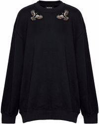 Markus Lupfer - Embellished Cotton-fleece Sweatshirt - Lyst