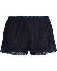 Stella McCartney - Lace-trimmed Ribbed Jersey Pyjama Shorts - Lyst