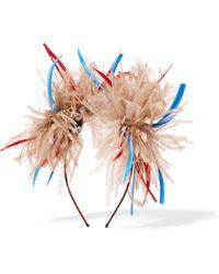 Eugenia Kim - Mariko Feather-embellished Headpiece - Lyst