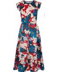 Erdem - Hadley Floral-print Silk-gazar Dress - Lyst