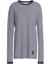 Zoe Karssen - Appliquéd Striped Linen-blend Jersey Top - Lyst