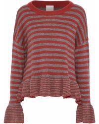 Cinq À Sept - Seren Striped Wool-blend Sweater - Lyst