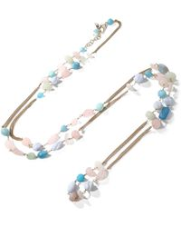 Rosantica - Gold-tone Multi-stone Necklace - Lyst