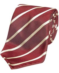 Fumagalli 1891 - Red And Beige Stripe Malibu Silk 5-fold Tie - Lyst