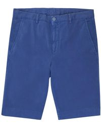 Light Blue Cotton And Wool Shorts Anderson & Sheppard nQbpuP