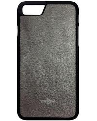 Huitcinq 1988 - Grey Nappa Leather Iphone 8 Case - Lyst