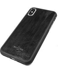 Huitcinq 1988 - Black Handpainted Leather Iphone X Case - Lyst