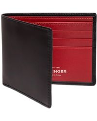 Ettinger - Black And Red Billfold Wallet With 6 C/c, Sterling Collection - Lyst