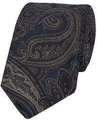 Fumagalli 1891 - Blue Silk Large Paisley Patterned Tie - Lyst