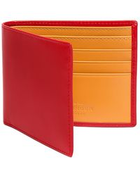 Ettinger - Red And London Tan Billfold Wallet - Lyst