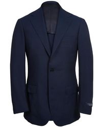 Ring Jacket - Navy Calm Twist Wool Suit - Lyst