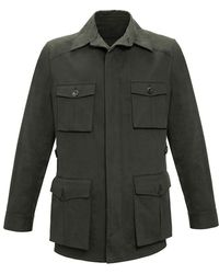 Anderson & Sheppard - Dark Green Travel Jacket - Lyst