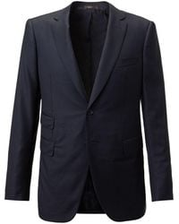 Cifonelli - Navy Single-breasted Two Piece Wool Suit - Lyst