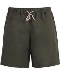 Rubinacci - Olive Linen And Cotton Swim Shorts - Lyst