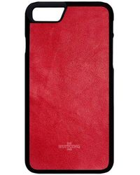 Huitcinq 1988 - Red Nappa Leather Iphone 8 Case - Lyst