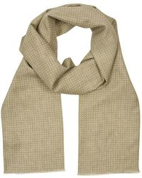 Anderson & Sheppard - Sand Spotted Print Silk Scarf - Lyst