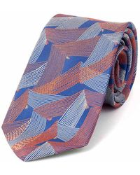 Augustus Hare - Royal Blue Lapwing Silk Tie - Lyst