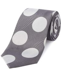 Chester Barrie - Grey Giant Dot Silk Tie - Lyst