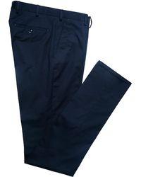 Blue Casual Cotton Trousers Rubinacci uMycEgLt