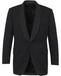 New & Lingwood - Black Wool Peak Lapel Dinner Jacket - Lyst