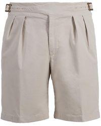 Rubinacci - Beige Manny Cotton Shorts - Lyst