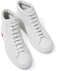 SCAROSSO - White Nicolo Bianco High-top Leather Sneakers - Lyst