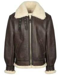 Schott Nyc - Brown B-3 Shearling Jacket - Lyst