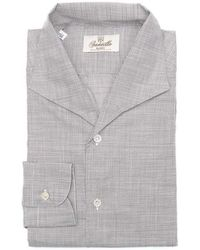 Santillo 1970 - Grey Italian Dandy Houndstooth Shirt - Lyst