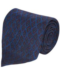 Fumagalli 1891 - Blue Tile Print Five-fold Silk Tie - Lyst