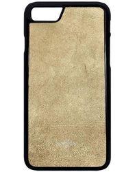 Huitcinq 1988 - Beige Suede Iphone 8 Case - Lyst