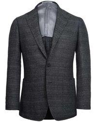 Ring Jacket - Charcoal Birdseye Wool Balloon Jacket - Lyst