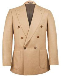 Chester Barrie | Tan Kingly Double Breasted Cashmere And Camel Hair Jacket | Lyst