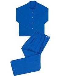 Anderson & Sheppard - China Blue Linen Pyjamas - Lyst