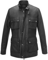Cifonelli - Black Patch Pocket Calf Leather Jacket - Lyst