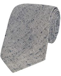 Salvatore Piccolo - Grey Marl Silk Tie - Lyst